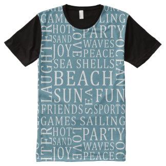 Custom Color Beach House t-shirt All-Over Print T-Shirt