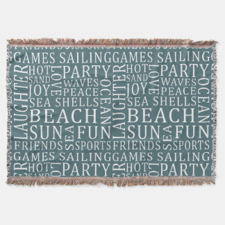 Custom Color Beach House throw blanket