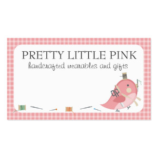 Custom color bird seamstress sewing notions label pack of standard business cards