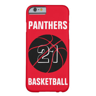 Custom Color Black Basketball iPhone Case Cover Barely There iPhone 6 Case