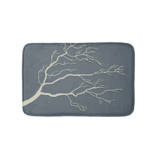 Custom Color Branching Tree Ivory BTIX Bath Mats