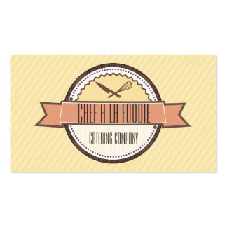 Custom color chefs knife whisk badge cooking business card
