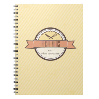 Custom color chefs knife whisk recipe notebook