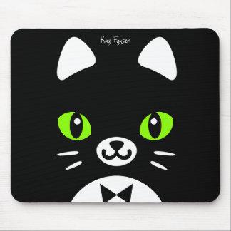 Custom Color Cute Tuxedo Cat Mousepad