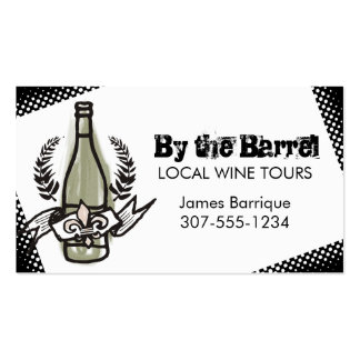 Custom color doodle French vineyard homemade wine Pack Of Standard Business Cards