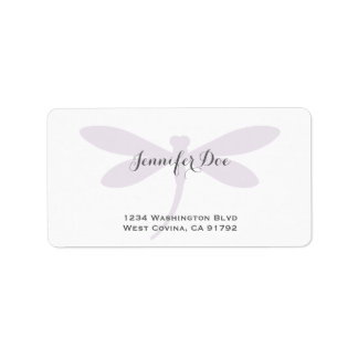 Custom Color Dragonfly Address Label Template