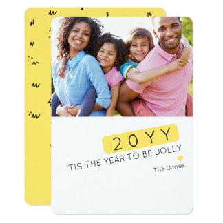Custom Color Editable Funny New Year Photo Card