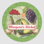 custom color fruit vegetable canning label sticker
