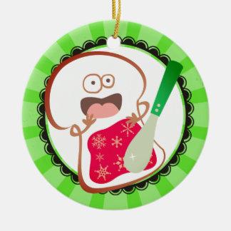 Custom color funny bread jelly Christmas ornament