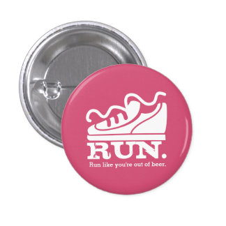 Custom color funny sneaker running beer 3 cm round badge