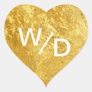 Custom Color Gold Heart Minimalist Heart Sticker