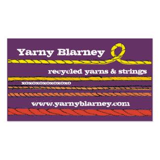 Custom color hand drawn yarn knitting crochet card business cards