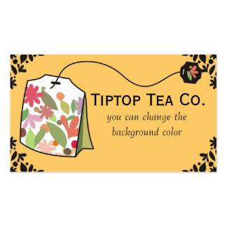 Custom color herbal floral teabag business card