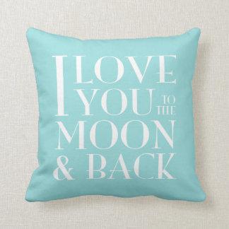 Custom Color I Love you to the moon & back Cushion