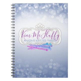 Custom color knitting needles pattern notebook