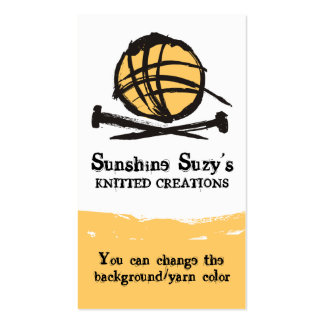custom color knitting needles yarn ink blot business card