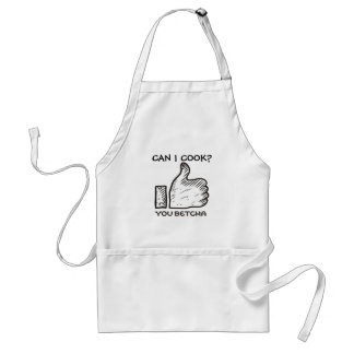 Custom color midwestern lingo you betcha thumbs up standard apron