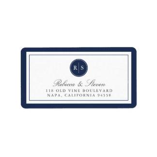Custom Color Monogram Return Address Address Label
