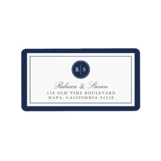 Custom Color Monogram Return Address Label