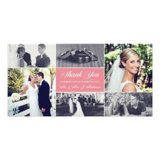 Custom Color Newlyweds Thank You Photo Card