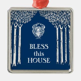 Custom Color Nouveau Angel Bless this House Christmas Ornament