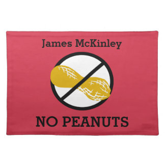Custom Color Nut Free Peanut Allergy Kids Placemat