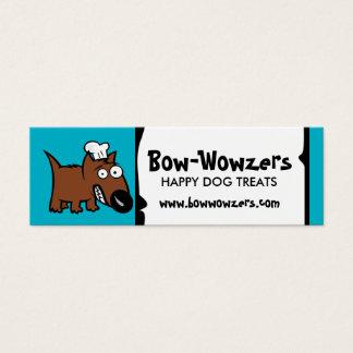 Custom color pet food chef dog food dog treats mini business card