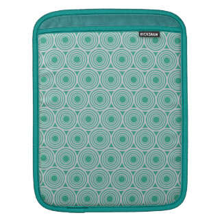 Custom Color Retro Circles iPad sleeve