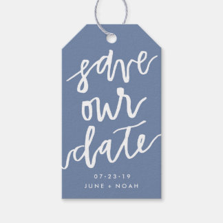 Custom Color Save Our Date | Save the Date Gift Tags