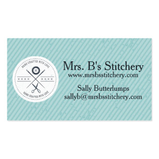 Custom color sewing seamstress alterations badge pack of standard business cards