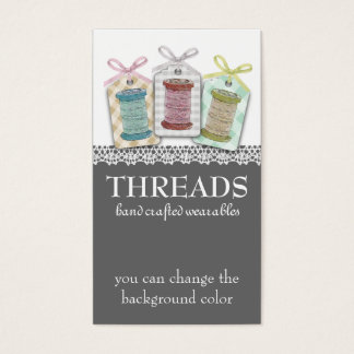 Custom color spools of thread sewing seamstress business card