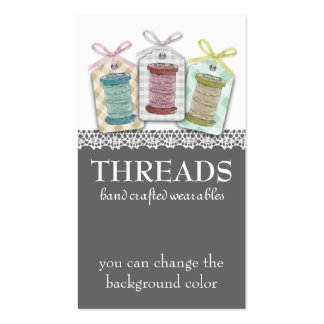 Custom color spools of thread sewing seamstress pack of standard business cards
