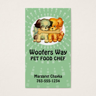 custom color vintage puppies dogs pet food chef