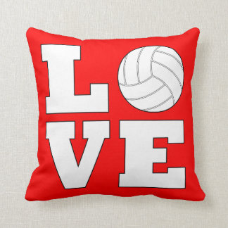 Custom Color Volleyball LOVE Throw Pillow