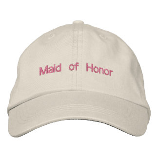 Custom Color Wedding Maid of Honor Wording Embroidered Hats
