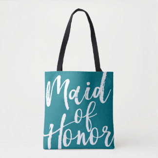 Custom Color Wedding Party Maid of Honor Tote Bag
