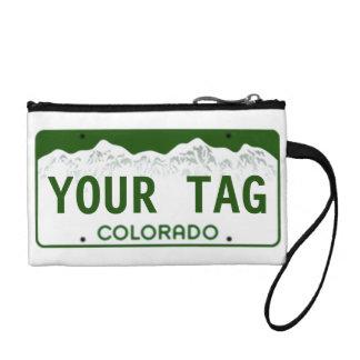Custom Colorado License Plate Coin Purses