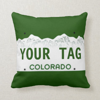 Custom Colorado License Plate Cushion