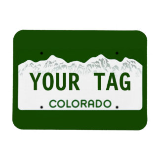 Custom Colorado License Plate Magnets