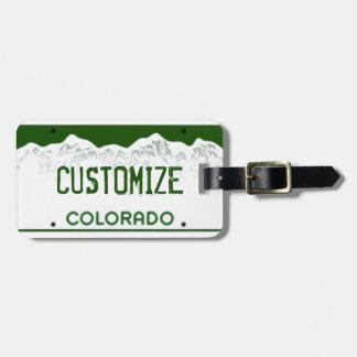 Custom Colorado License Plate Luggage tag