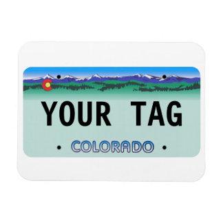 Custom Colorado License Plate magnet
