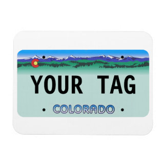 Custom Colorado License Plate magnet