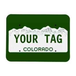 Custom Colorado License Plate Rectangular Photo Magnet