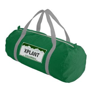 Custom Colorado License Plate Tag Gym Duffel Bag