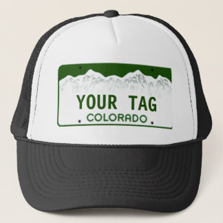 Custom Colorado License Plate Trucker Hat