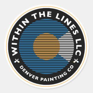 custom colorado painting logo round sticker