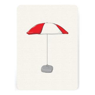 Custom Colorful Beach Umbrella Invitation Stamps