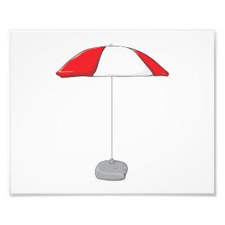 Custom Colorful Beach Umbrella Invitation Stamps Photo