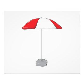 Custom Colorful Beach Umbrella Invitation Stamps Photographic Print