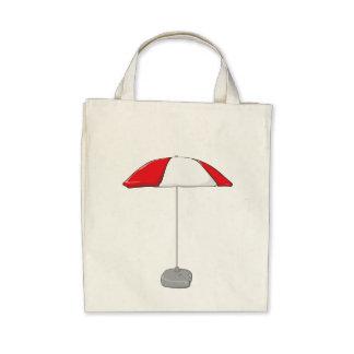 Custom Colorful Beach Umbrella Water Bottle Tag Bag
